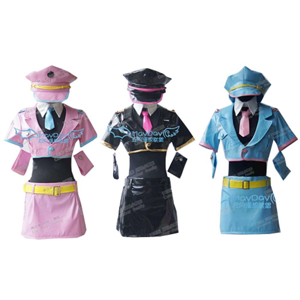زي تنكري من الجلد الصناعي ، رسوم متحركة يابانية ، نيترو ، سوبر سونيك ، زي شرطة الفضاء ، موضة 2021