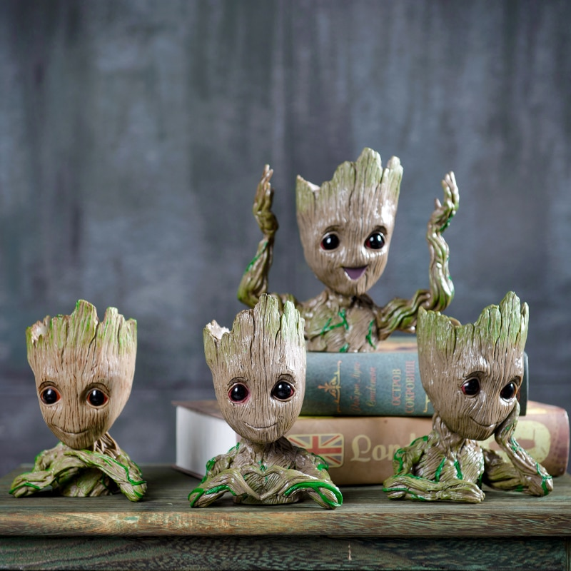 Creative Flower Pot Baby Groot Home Decoration Planter Action Figures Tree Man Model Toy For Kids Pen Holder Garden Planter Pots