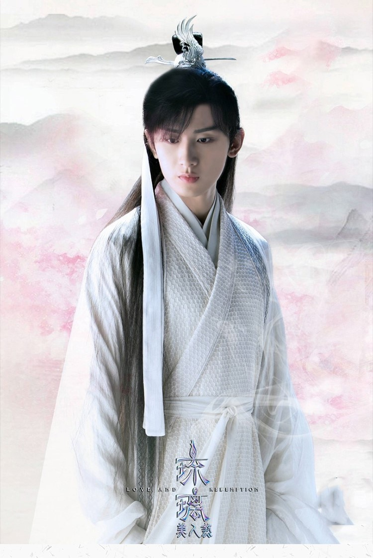 Seven designs for male Prince scholar sleeve wide Han costume TV series love and redemption