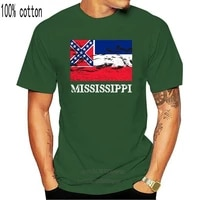 womens tee mississippi state flag shirt special vintage dixie proud print womens t shirt punk