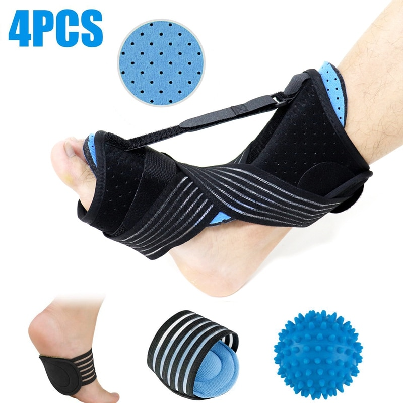 Plantar Fasciitis Night Splint for Adjustable with Massage Ball and Bandage