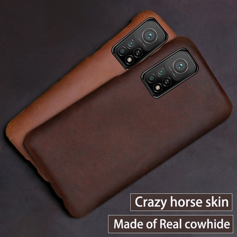 Чехол из натуральной кожи для Xiaomi 10 10T Pro 10t lite redmi k30 K30s, чехол из воловьей кожи Crazy horse