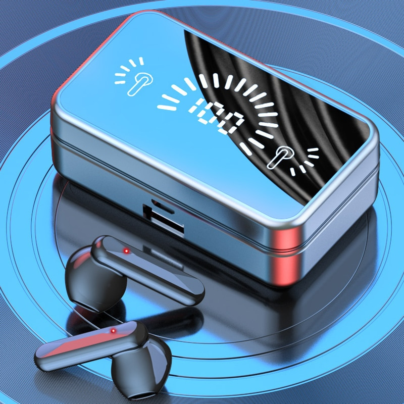 9D Stereo Wireless Headphones Bluetooth 5.2 TWS With Microphone 3500mAh Charging Case Sports Waterproof Earbuds Headsets