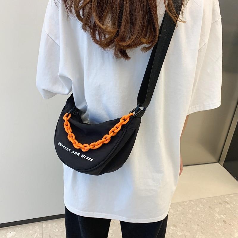 High-quality Fashion Lady's Nylon Bag 2021 New Dumpling Bag, Lightweight Chain, Simple Western Style Single-shoulder Female Bag