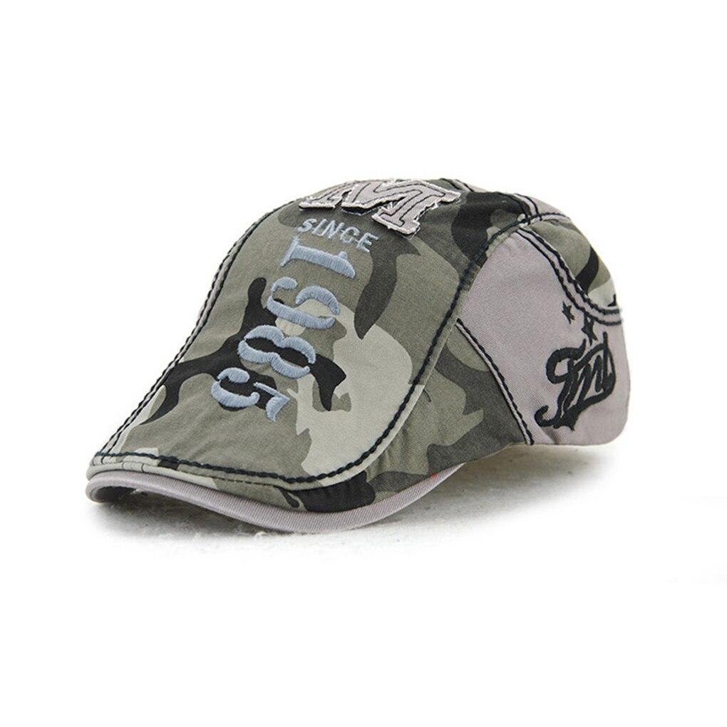 Boina de hombre y mujer Newsboy, gorra de conducción informal plana, gorra de camuflaje transpirable