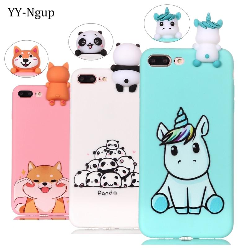 Coque para iPhone 8 iPhone 5 5s se funda 3D unicornio funda suave para iPhone X 7 Plus i phone 6 6s apple funda teléfono hoesje