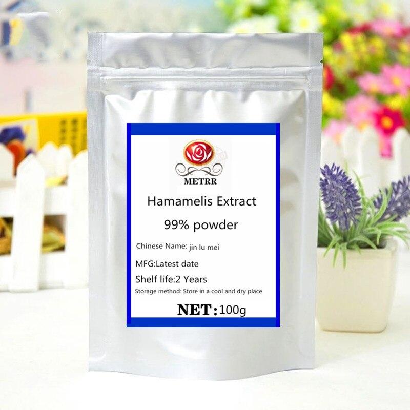 O pó de venda quente do extrato de hamamelis tem propriedades antioxidantes de alta eficiência, clareando a pele, hidratando e hidratando