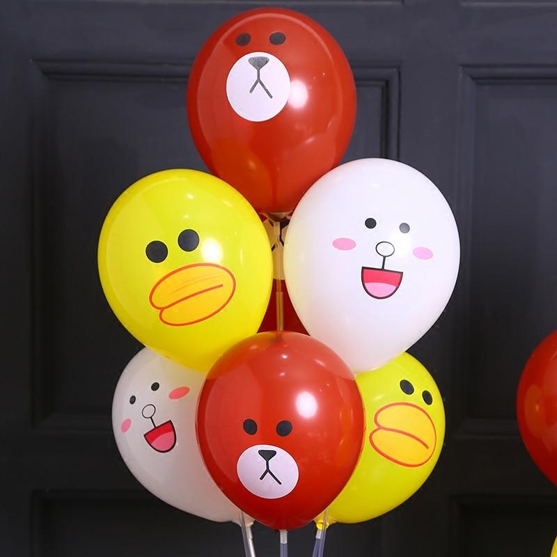 6/pces decoração coelho boca grande pato brinquedo crianças desenhos animados de látex grosso balão