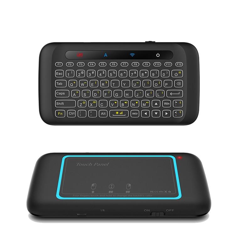 2.4 ghz teclado sem fio com almofada de toque backlit teclados controle remoto para computador portátil tablet caixa de tv android inteligente