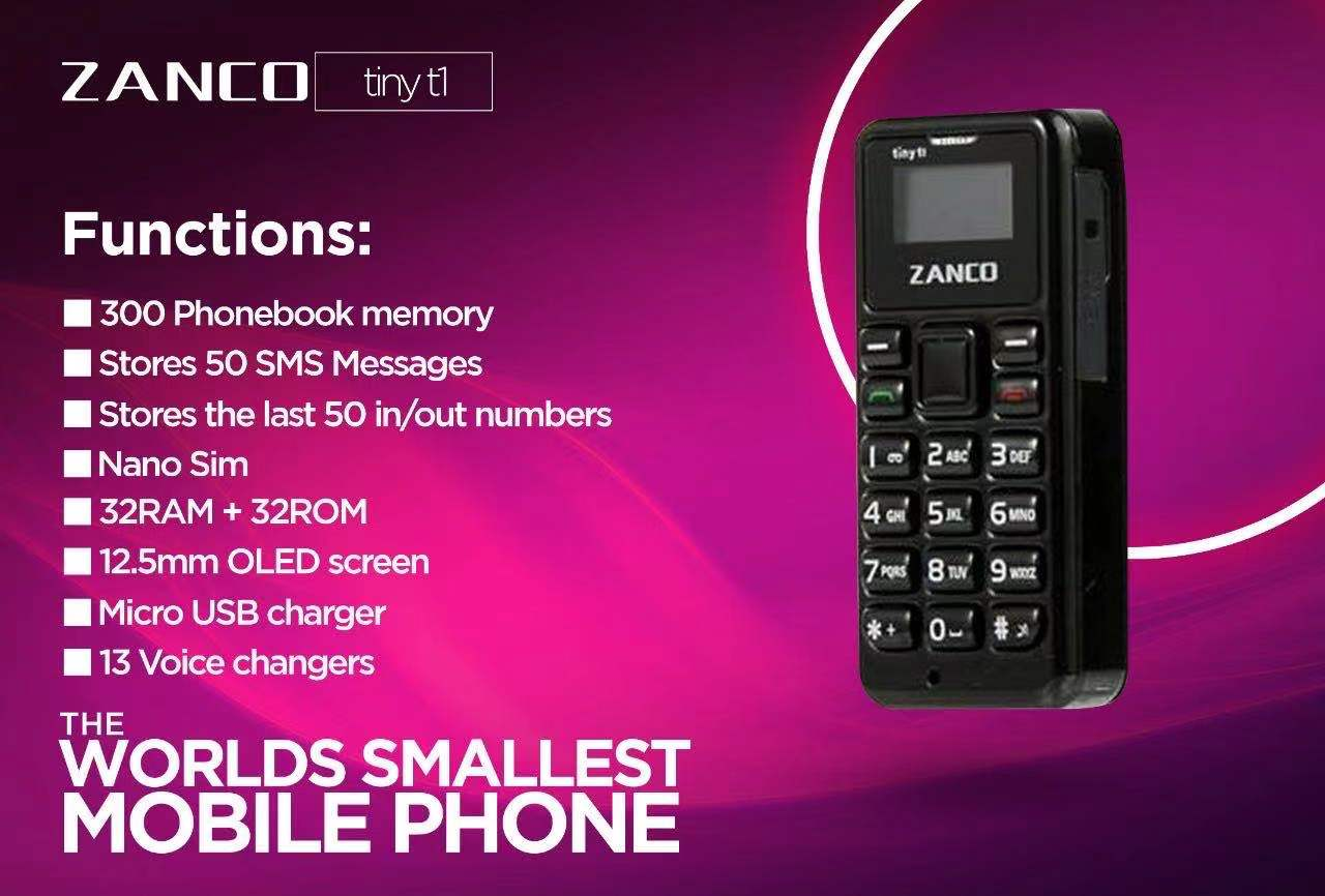New Zanco tiny t1 World's Smallest mini Phone small phone bluetooth phone unlocked GSM cellular  cellphone Buy factory direct