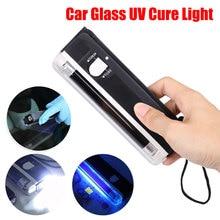 Multifonctionnel Auto verre UV Cure lumière voiture fenêtre résine durci Ultraviolet UV lampe éclairage pare-brise réparation outils en gros