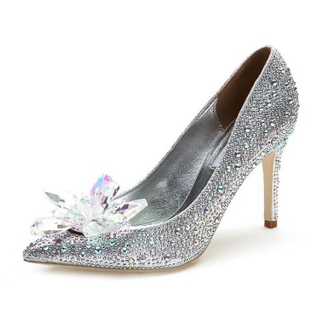 2 uds Diamante de diamantes de imitación zapatos dijes de clip hebilla extraíble de cristal decoración de zapatos de flores