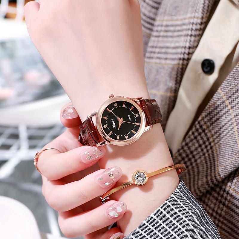 YUNAO New 2021 Ladies Watch Waterproof Scale Diamond Fashion Women's Watch Belt High-end Quartz Watch Customized Casual Watch enlarge