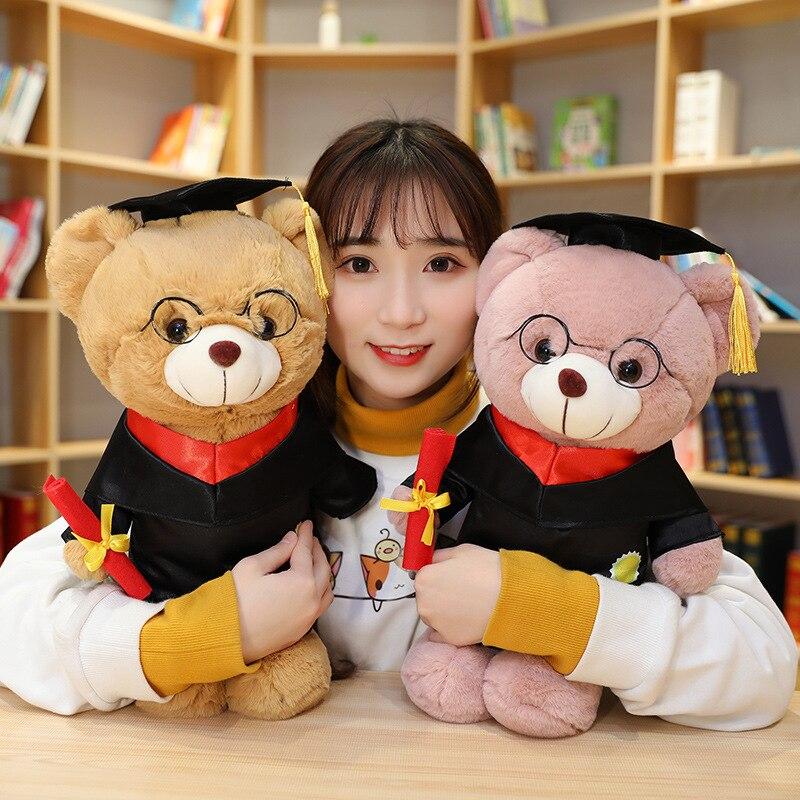 Lindo Oso de graduación Peluche de juguete Animal oso de peluche regalo de graduación
