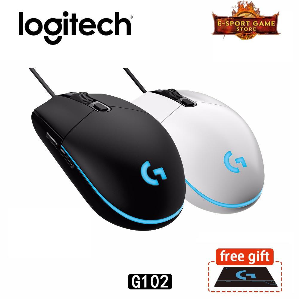Original Logitech G102 prodigio juegos por cable ratón óptico de 6.000 DPI 16,8 M Color LED Customizing6 apoyo escritorio/portátil Windows