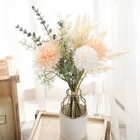 Искусственные белые цветы, большой букет одуванчиков, Шелковый пластиковый искусственный цветок для украшения дома, свадьбы, гостиной
