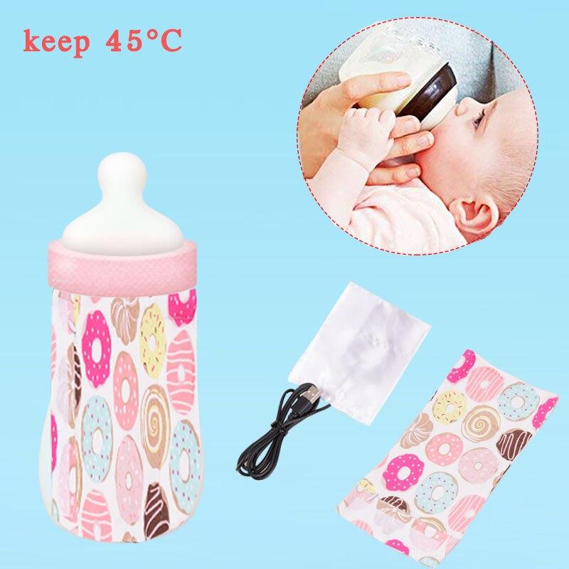 USB Детские Бутылочки для молока сохраняющие тепло на открытом воздухе