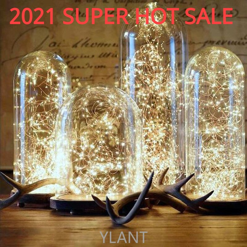 10m 5m led string lights silver wire fairy warm white garland home christmas wedding holiday party decoration powered by battery YLANT LED String light Silver Wire Fairy warm white Garland Home Christmas Wedding Party Decoration Powered by Battery Batter