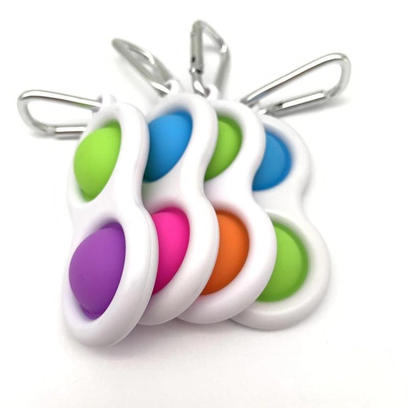 Push Pop Bubble Pop-It Sensory Toy Custom Pop Stress Keychain Leisure For Women Men Children