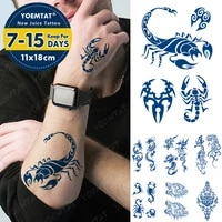juice lasting waterproof temporary tattoo stickers scorpion dragon tiger wolf totem flash tattoos male ink body art fake tatto