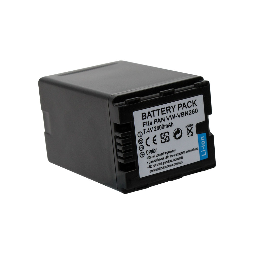 Alta calidad 2800mAh VW-VBN260 VW VBN260 VWVBN260 Cámara batería para Panasonic HC-X800 HC-X900 HC-X900M HC-X910 HC-X920 HC-X920M