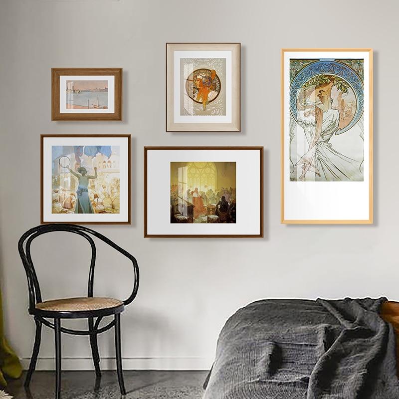 ملصقات الحائط الأوروبية الفاخرة إطار صور الفن التصويري الحد الأدنى صور الديكور غرفة المعيشة الرئيسية جدار الجداريات EH50PW
