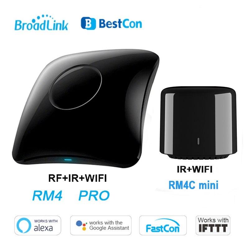 Broadlink RM4 Pro Rm4C Mini domótica inteligente WiFi IR RF control remoto inteligente Universal funciona con Alexa Google Home