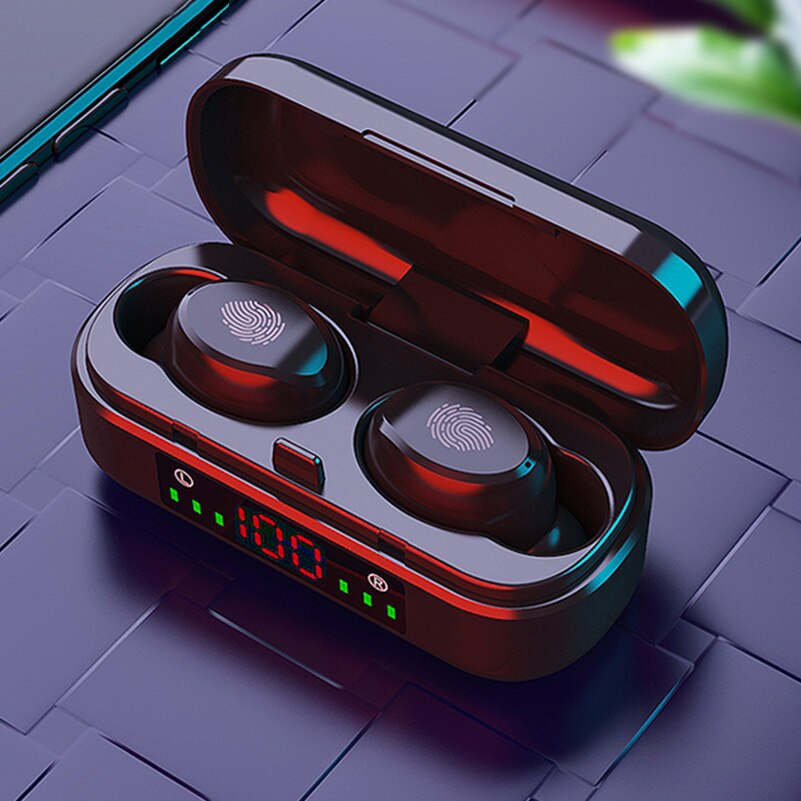 TWS Wireless Bluetooth Earphones Touch Control Headphones Sports Waterproof Headset HiFi 9D Bass Ste