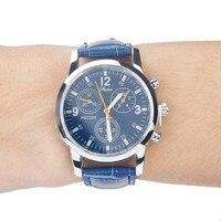 men's watches paulareis breitling watch Blue-ray glass neutral quartz simulates wrist epidermal Leather Strap watch