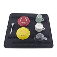 non slip placemat silicone drying mat foldable tableware silicone drain pad insulation pot mat kitchen drain pad accessories