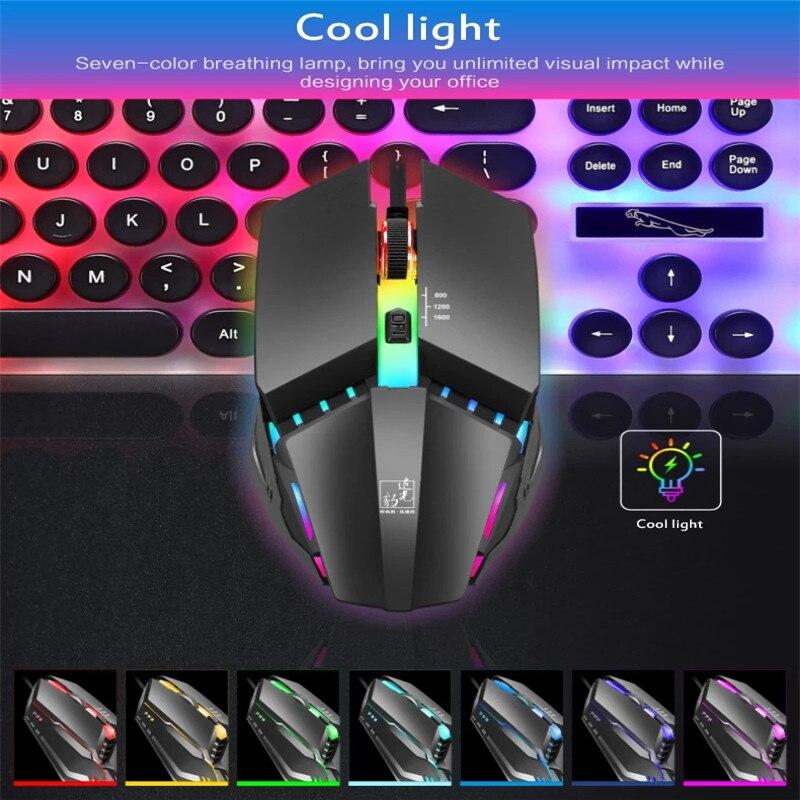 K3 световой проводной Мышь USB светодиодный Цвет светильник эргономичный дизайн левой и правой руки для компьютерные офисные игры