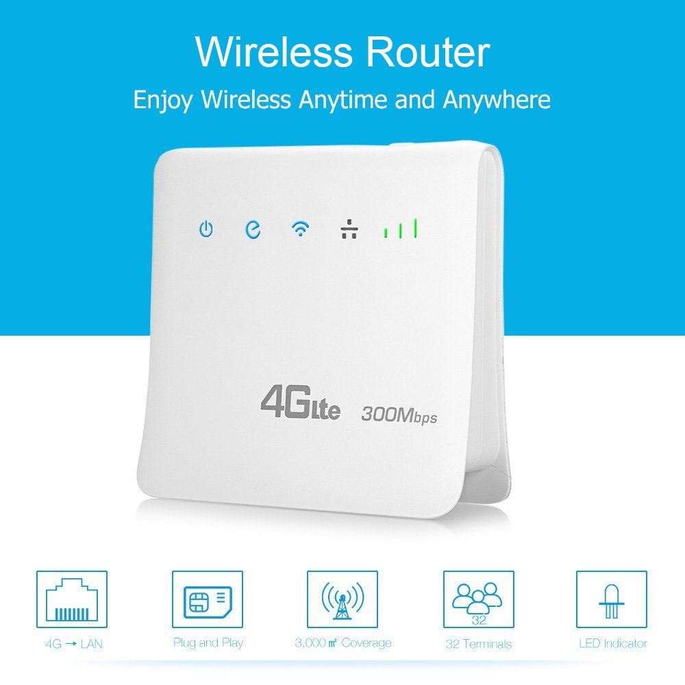 مقفلة 300Mbps واي فاي الموجهات 4G lte cpe موبايل راوتر مع منفذ LAN دعم بطاقة SIM RJ45 كابلات راوتر لاسلكي واي فاي 4G راوتر