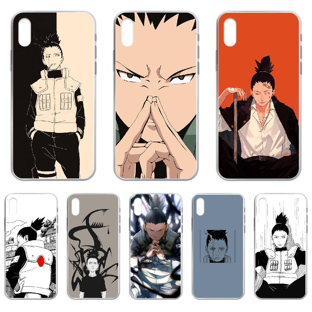 Naruto nara shikamaru caso de telefone capa para iphone 4 4S 5 5c 5S 6s plus 7 8 x xr xs 11 pro se 2020 max transparente capa tpu