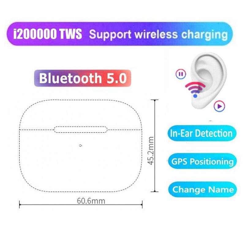 I200000 Pro TWS auriculares inalámbricos Bluetooth Cambiar nombre posicionamiento auriculares PK W1 chip i100000 i500 i9000 tws pro