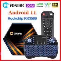 Новые Vontar Smart 8K ТВ Box Android 11 макс. память 8GB Ram 12 Гб встроенной памяти, RK3566 Android 11,0 Media Player Youtube Декодер каналов кабельного телевидения USB3.0 4K 60fps