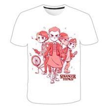 T-shirt dété avec short dété du film strange Things saison 3 imprimé en 3D pour enfants, garçons et filles, Harajuku