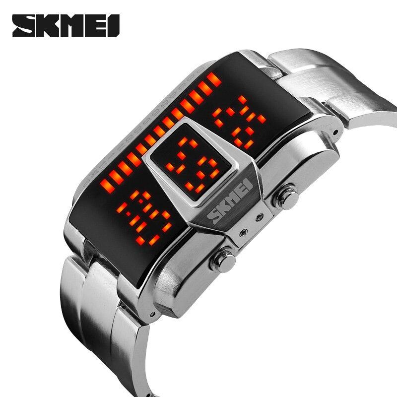 SKMEI-ساعة رياضية رقمية للرجال ، ساعة يد رجالية ، مقاومة للماء ، 5 بار ، 1179