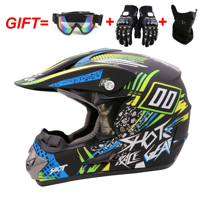 Casco Para Motocross MX, cascos para Moto Enduro todoterreno, Motocross, ATV, BMX,...