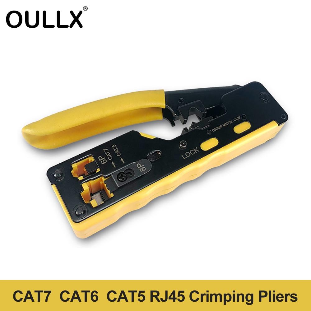 Многофункциональные плоскогубцы OULLX Cat7, ручные сетевые инструменты с зажимом RJ12, Cat5, Cat6, 8P8C, для зачистки кабеля