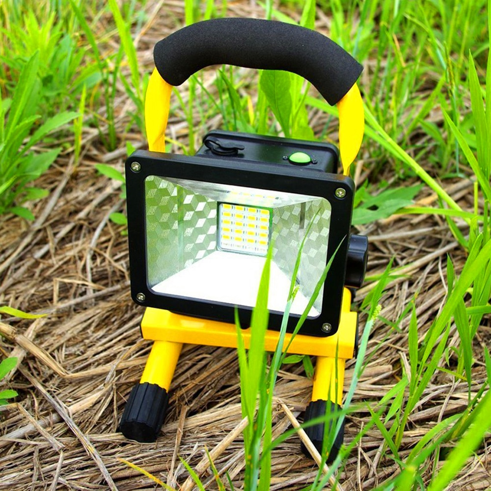 30w 24LED Portable Rechargeable Searchlight Floodlight Waterproof with Charger Outdoor Work LED Emergency Light Camping Light led chargeable light outdoor plaza stadium mobile emergencyportable searchlight with sos waring lighting