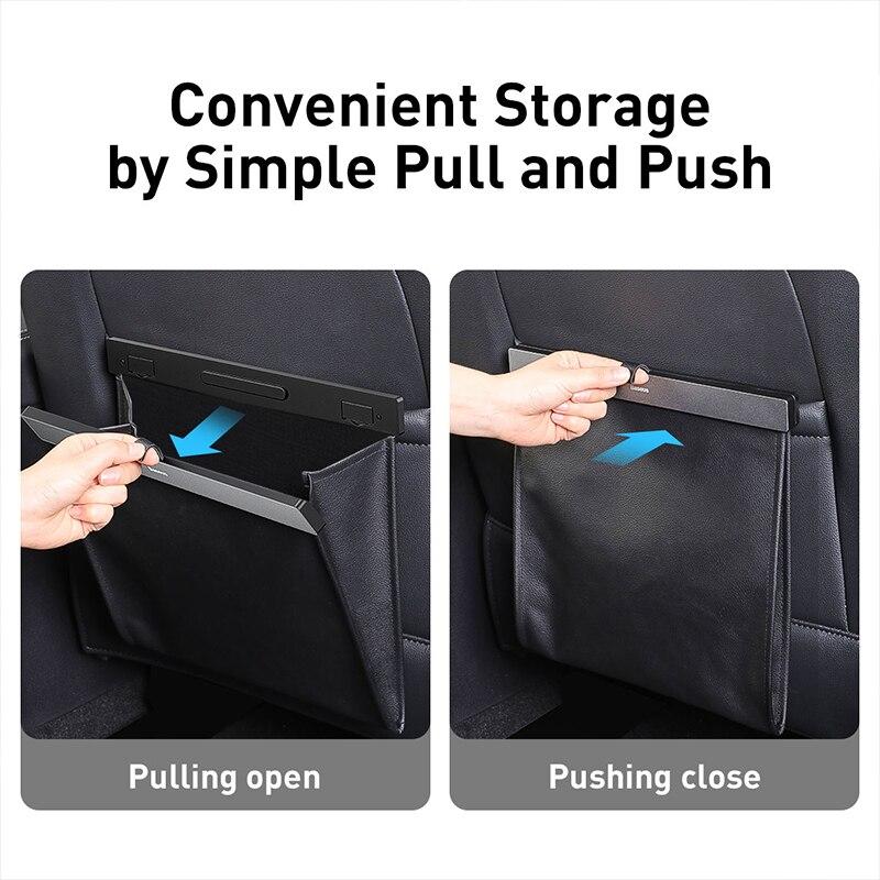Baseus Car Organizer Backseat Storage Bag Magnetic Auto Pocket Holder Car Accessories Car Trash Bin Garbage Can Dustbin Car Bag enlarge