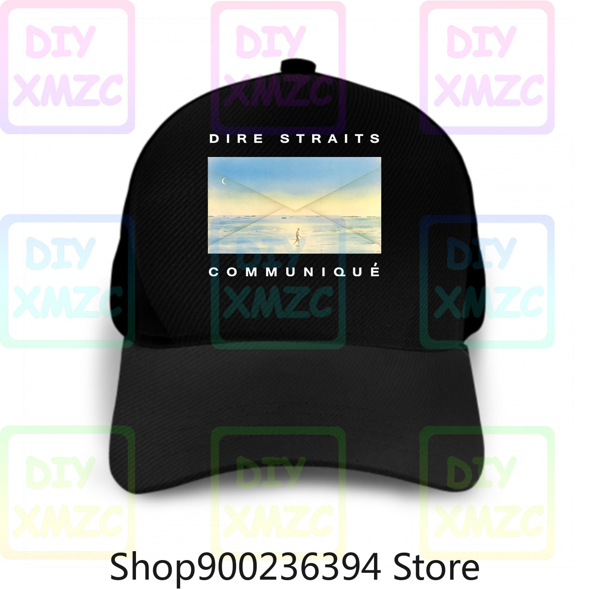 Dire straits-boné de beisebol communique chapéus poster azul todos t caga impressão chapéus c