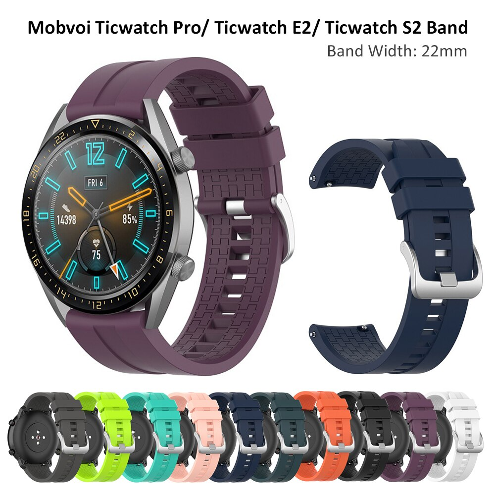 Reloj Universal de 22mm para Ticwatch Pro/ Ticwatch E2/ Ticwatch S2, reloj inteligente, correa de muñeca oficial