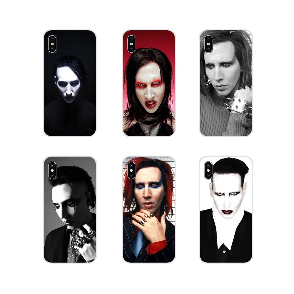 Accesorios cubiertas de los casos del teléfono Marilyn Manson para Samsung A10 A30 A40 A50 A60 A70 M30 Galaxy nota 2 3 4 5 8 9 10