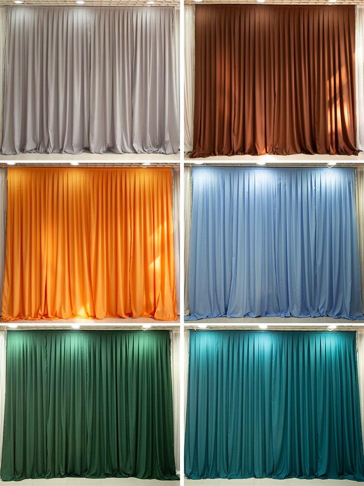 Custom Made Wedding Veil Birthday Scene Layout Curtain Drapery Pavilion Curtain Christmas Chiffon Party Decoration Supplies
