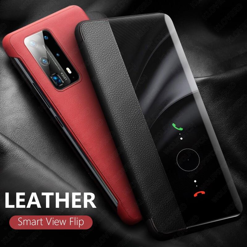 Умный кожаный чехол для Huawei P40 P20 P30 Pro Mate 10 20 20X 30 Nova 3 3i 5T Honor 8X 20 10 Lite P Smart Plus 2019