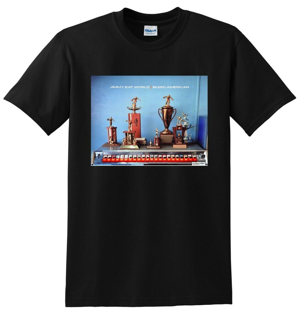 jimmy eat world jimmy eat world stay on my side tonight lp JIMMY EAT WORLD T SHIRT bleed american vinyl cd cover SMALL MEDIUM LARGE or XL