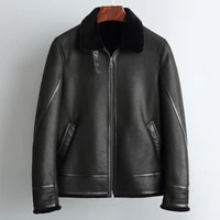 2020 real fur coat short winter jacket men sheep shearling fur coat stand collar warm wool jackets veste homme r 016 yy558