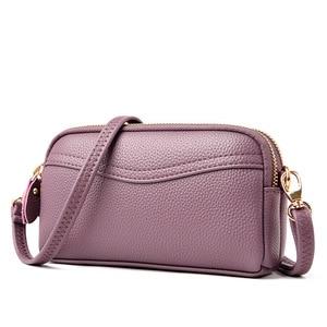 New Fashion Small Ladies Clutches Bag Women's Leather Handbags Soft Leather Shoulder Bags For Women Bolsas Feminina