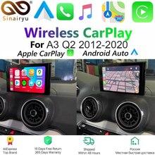 Беспроводное решение Sinairyu Apple Carplay для Audi A3 3G/3G MMI, оригинальный экран с поддержкой MirrorLink, задняя/фронтальная камера